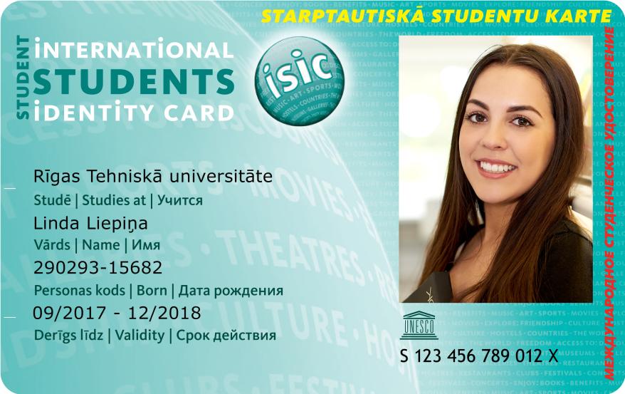 isic karte Identifikācijas kartes (studentu apliecības) | Rīgas Tehniskā