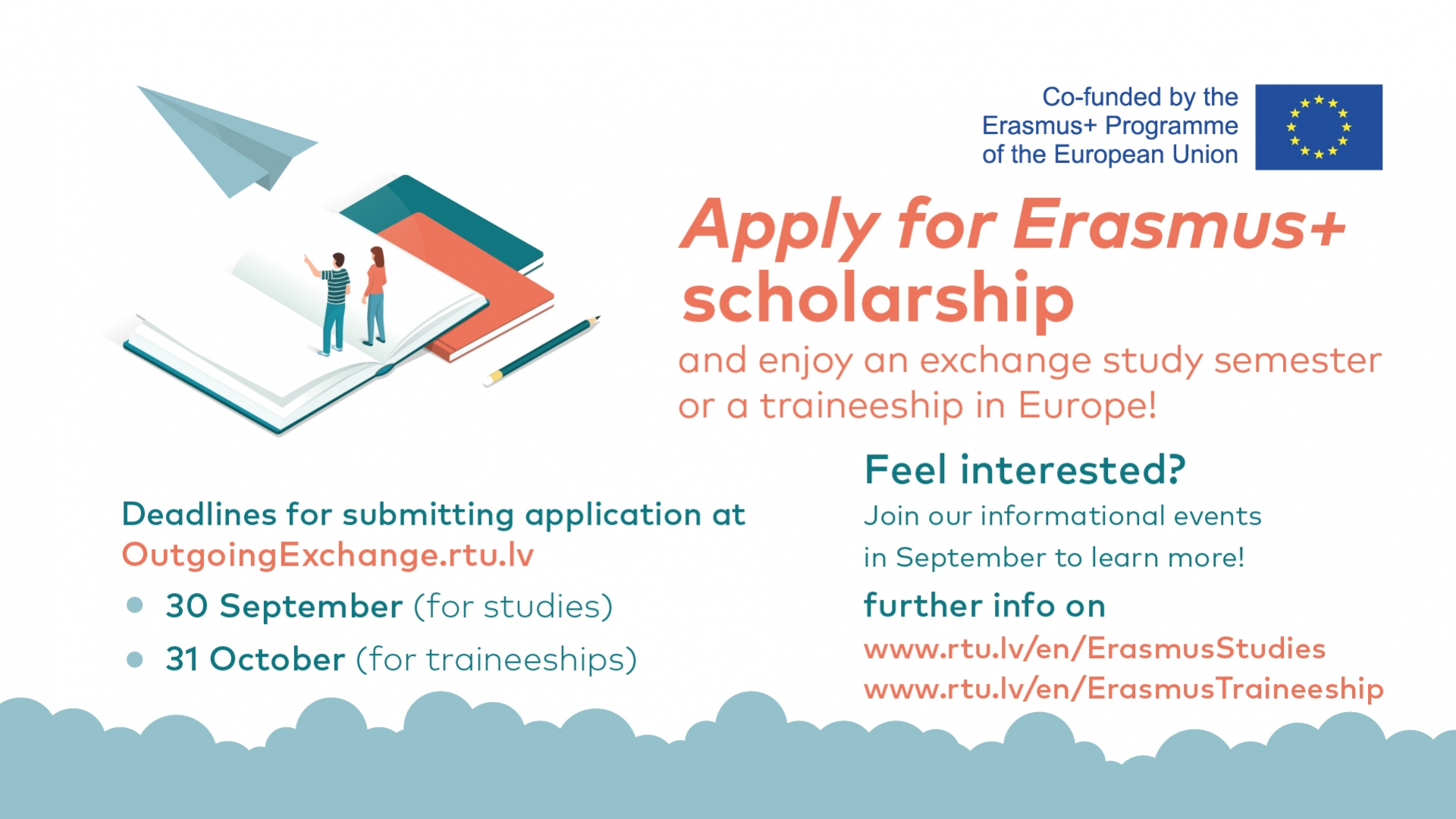 Last day to apply for the Erasmus+ scholarship