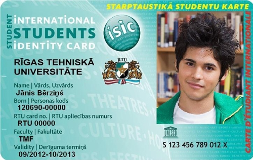 Isic Your University Student – Riga Card Technical