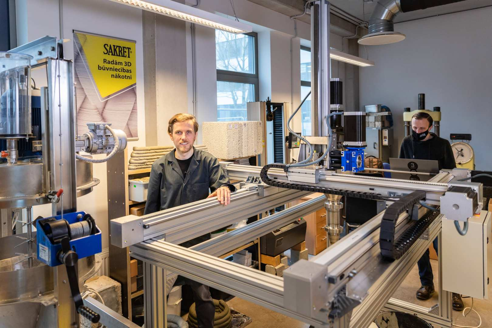 RTU in partnership with Sakret establishes the first 3D concrete printing laboratory in the Baltics