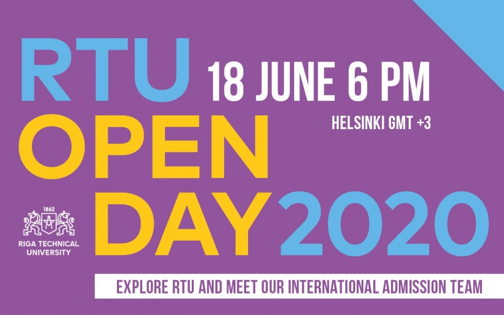 Experience the University at RTU Open Day 2020