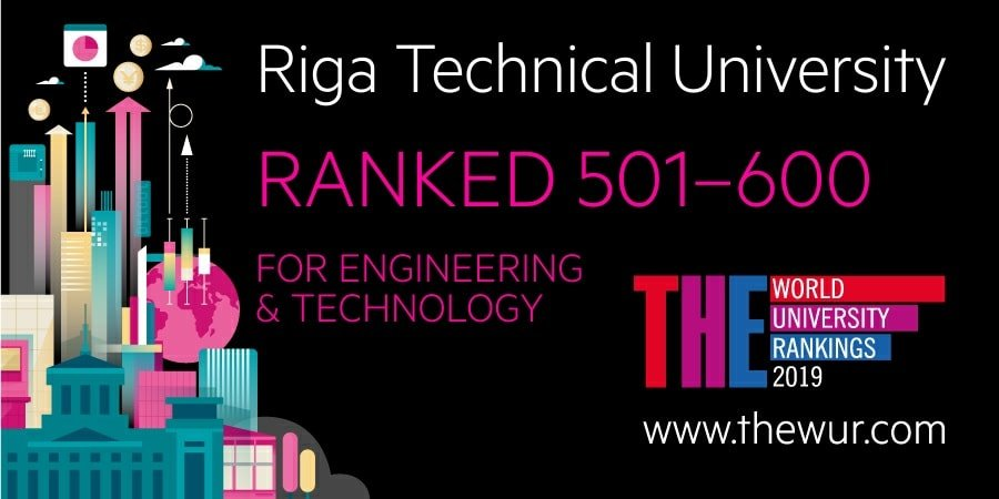 Times Higher Education ranked RTU among 600 best universities in engineering and technology in the world