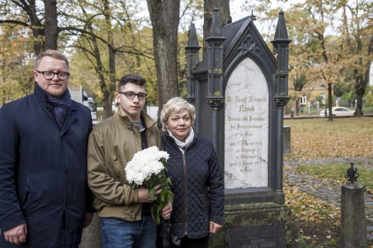 On the eve of the 157th Anniversary of RTU, the resting places of the former rectors traditionally are visited in the Riga cemetery 11.10.2019.