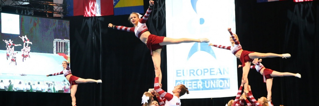 For the first time RTU cheerleaders participate in the elite division of the European Championship and enter the TOP 10 of the best countries