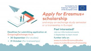 Students are welcome to apply for the Erasmus+ scholarship