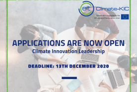 Apply for: the EIT Climate-KIC Climate Innovation Leadership Programme!