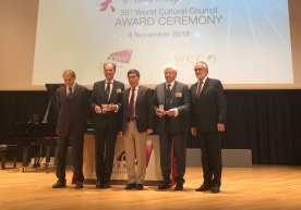 RTU Rector Received the Word Cultural Council Award for Contribution to the Education Sector